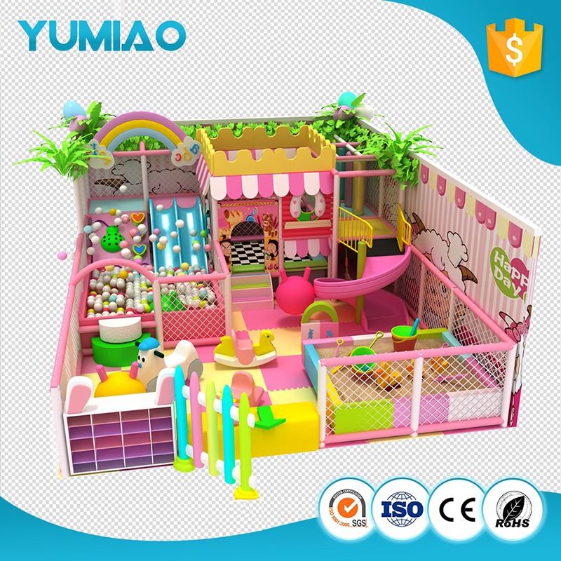 Kids Play attractive indoor homemade playground equipment lldpe indoor playground newest space style indoor for kids