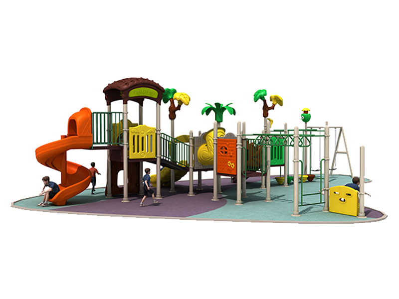 Plastic Backyard Playground with Metal Swing Sets MTH-002
