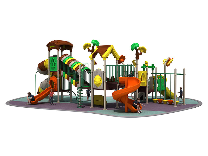 China Large Outdoor Playground with Spiral Slide MTH-008