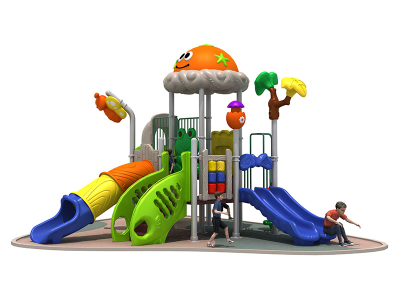 Kids Outdoor Plastic Play Equipment with Slide RY-010