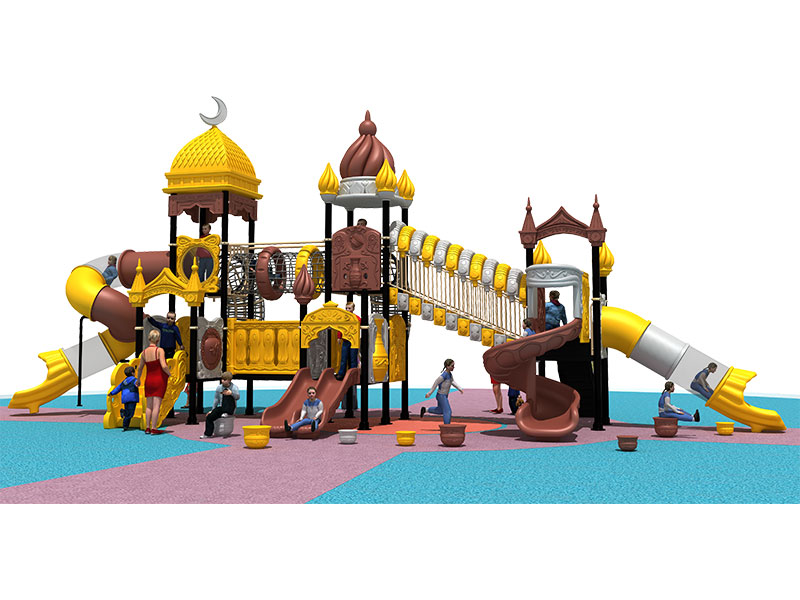 Popular Outdoor Kids Playhouse with Slide YQL-005