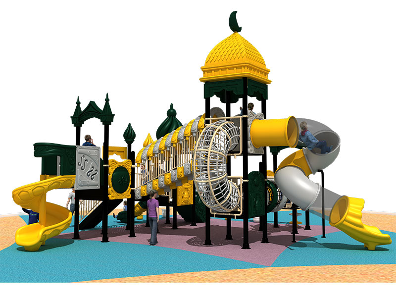 Affordable Children Plastic Play Structure with Slide YQL-010