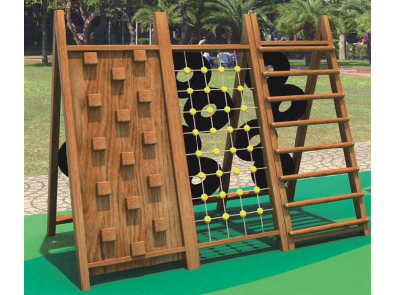 Outdoor Wooden Climbing Play Equipment for Toddlers MP-024