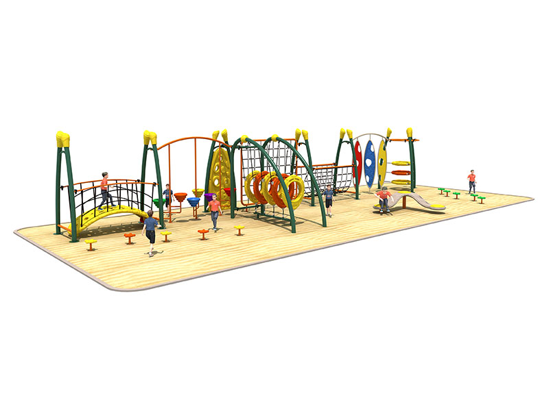Plastic Outdoor Play Climbers with Steel Rope TP-013