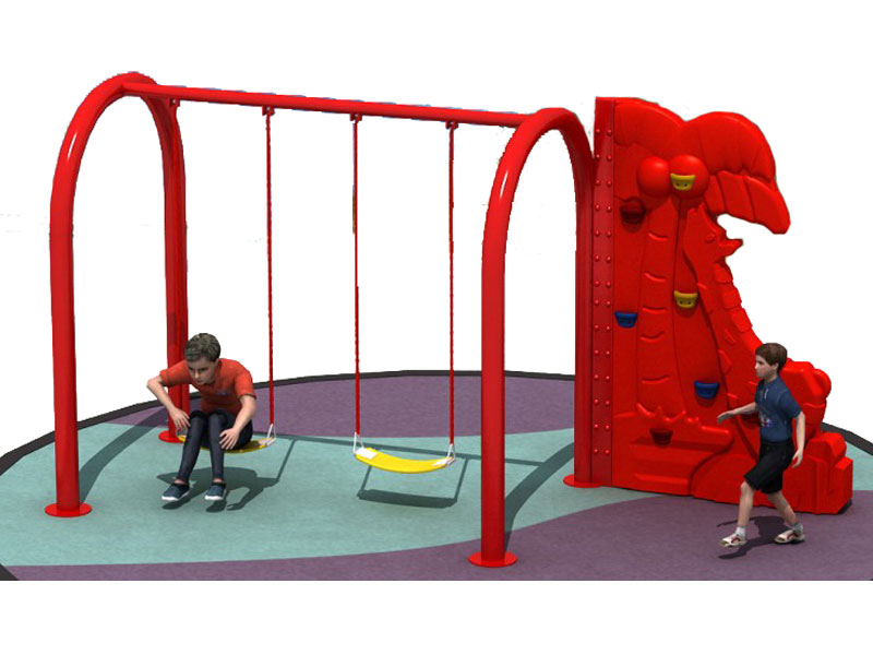 Outdoor Plastic Climbing Wall for Swing Set ODCS-031