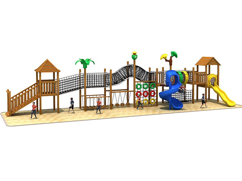Outdoor Childrens Wooden Play Equipment for Parks GZ-005