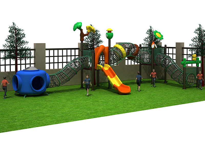 Children's Outdoor Climbing Structures with Slides GZ-007