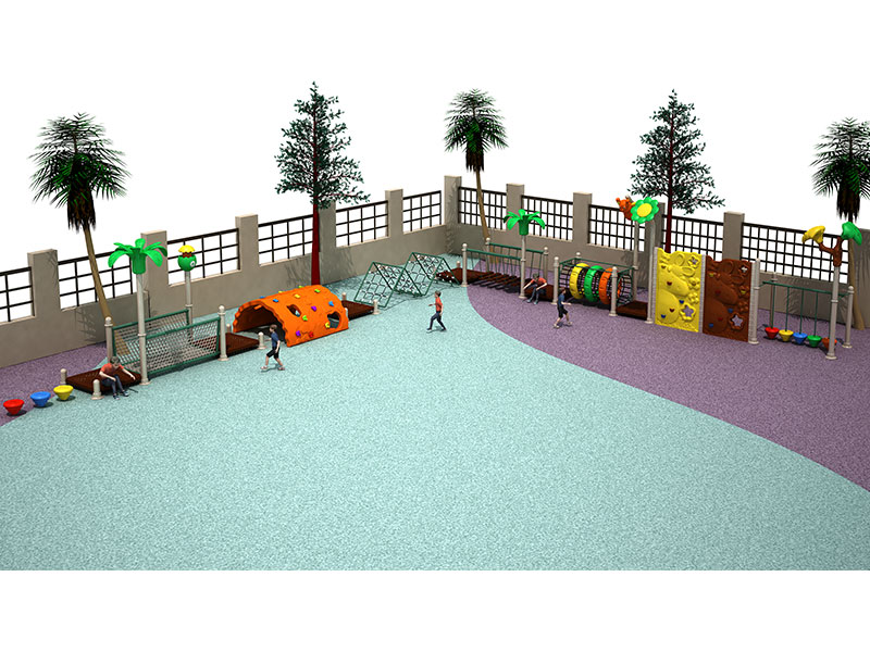 Large Childrens Garden Play Area with Climbing Frames PG-003