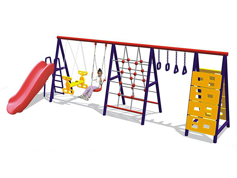 Outdoor Playground Swing with Slide and Climer Set SW-009