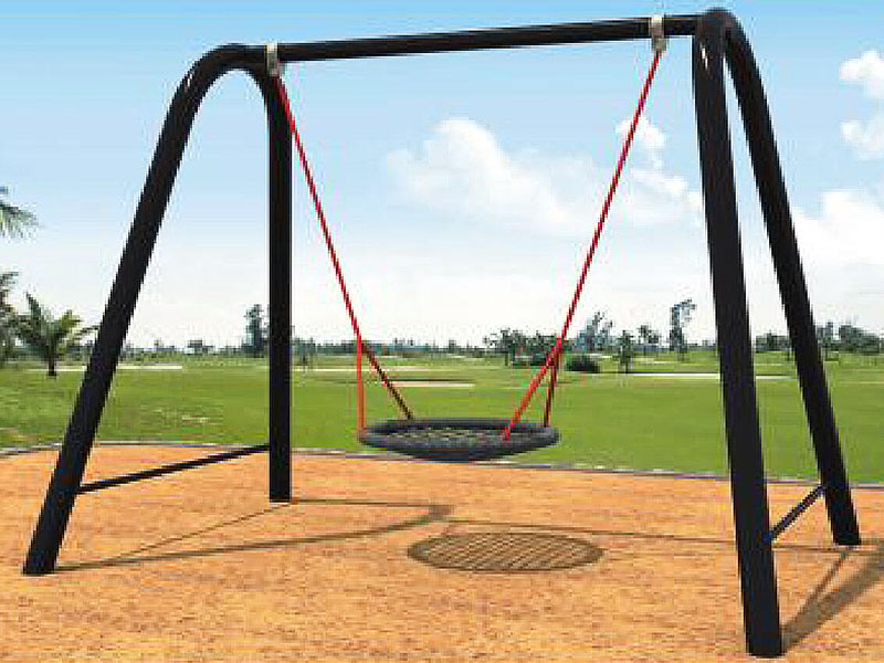 Outdoor Single Backyard Tire Swing for Toddlers SW-025