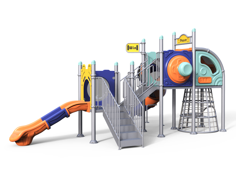 Cheap Outdoor Plastic Playground Set for Backyard