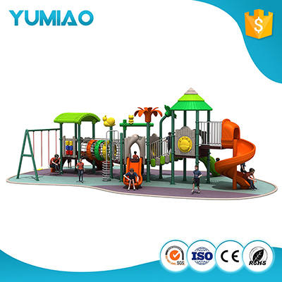 Fast Delivery Amusement Park Double Slide Outdoor Playground Equipment