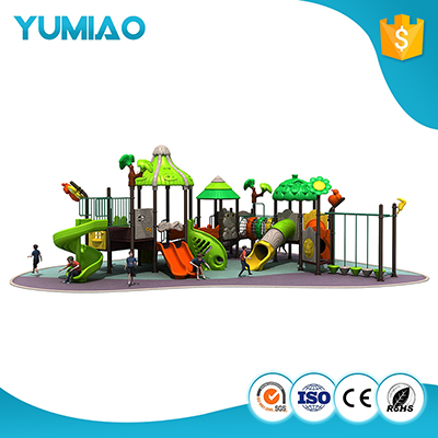 Assessed Supplier Amusement Park Large Plastic Slide Outdoor Playground