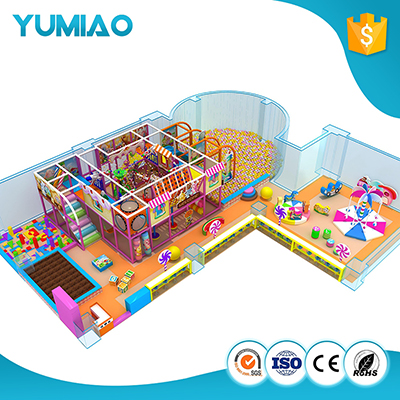 Children Commercial amusement indoor play house playground set 3-level indoor playground