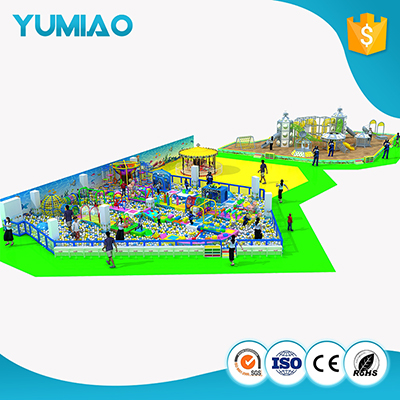 Hot sale rainbow obstacle children large indoor playground latest rainbow indoor playground
