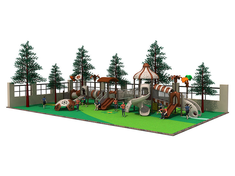 Large Outdoor Playhouse with Slide for Kids CT-007