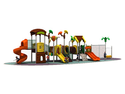 Custom Outdoor Plastic Play Gym for Little Kids MTH-005