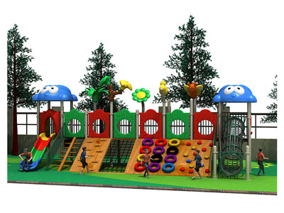 Children Outdoor Wooden Play Equipment for Parks MP-007