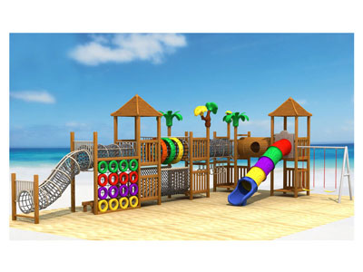Children Wooden Adventure Playground with Swing Set MP-016