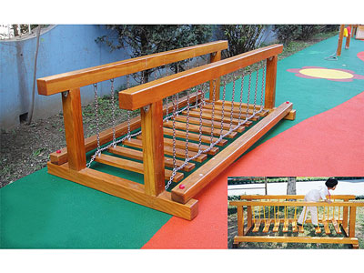 Small Kids Outdoor Wooden Playground Price MP-029