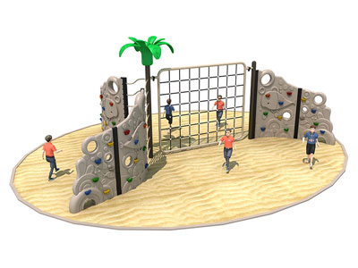 Outdoor Toddler Rock Climbing with Net LP-004