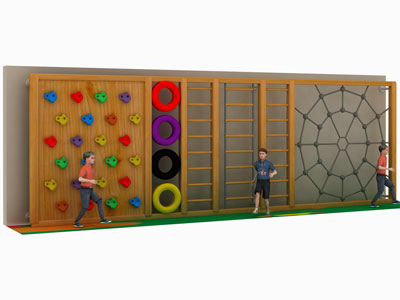 Childrens Outdoor Wooden Climbing Wall for Sale PQ-002