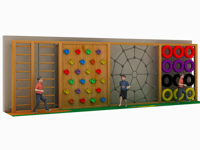 Outdoor Wooden Play Frame for Kids 3-12 Years PQ-003
