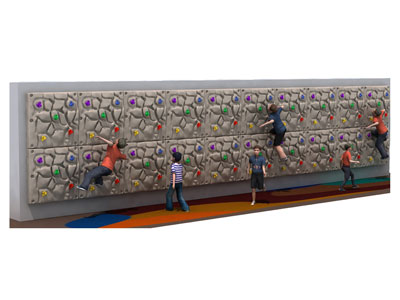 Large Baby Rock Climbing Wall for Nursery School PQ-015