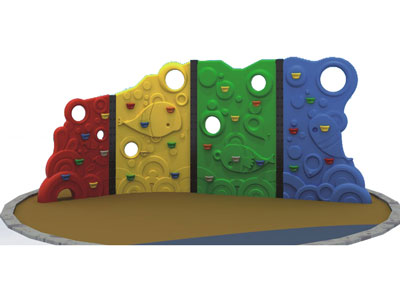 Plastic Backyard Rock Climbing Wall for Toddlers LP-023