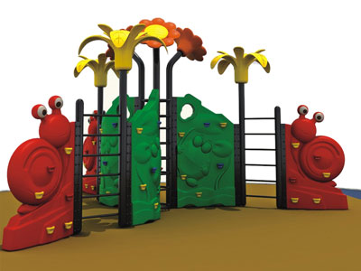 Affordable Outdoor Freestanding Climbing Wall for Kids LP-026