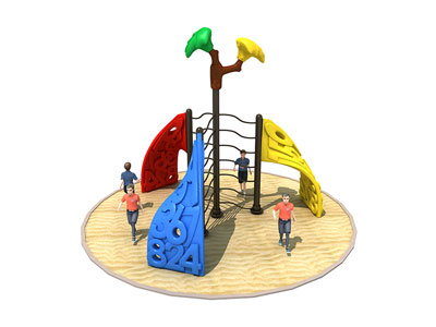 Three Panel Kids Plastic Jungle Gym for Small Backyard ODCS-013