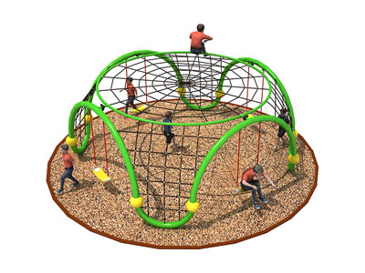 Outdoor Kids Climbing Nets with Swings ODCS-007