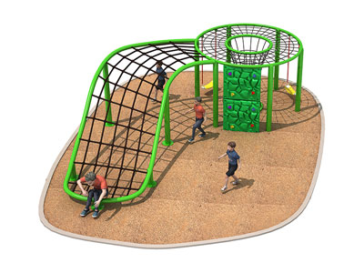 Playful 3 in 1 Childrens Climbing Net for Parks ODCS-010