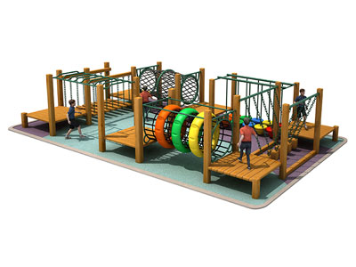 Outdoor Fireproof Wooden Adventure Play Equipment for Toddlers PG-006