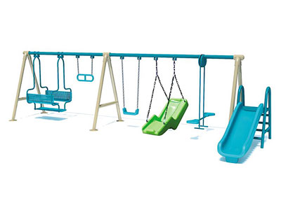 Factory Price Outdoor Childrens Swing with Slide SW-007