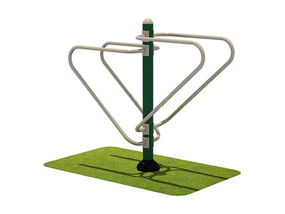 Outdoor Workout Equipment Push Up and Dip Station for Schools OF-006