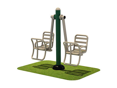 Outdoor Exercise Machines Double Swing Set for Sale OF-031