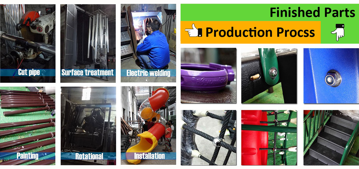 Production of Kids Outdoor Play Equipment