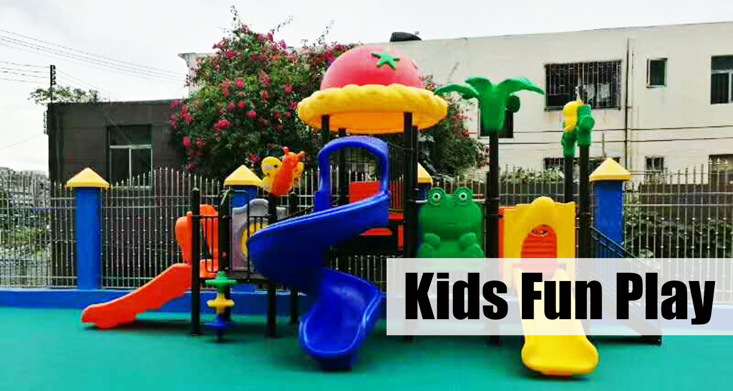 Kids Outdoor Plastic Play Equipment with Slide