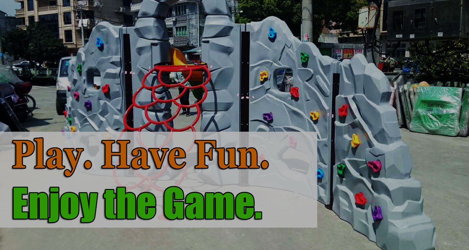 Outdoor Plastic Climbing Panels for Children