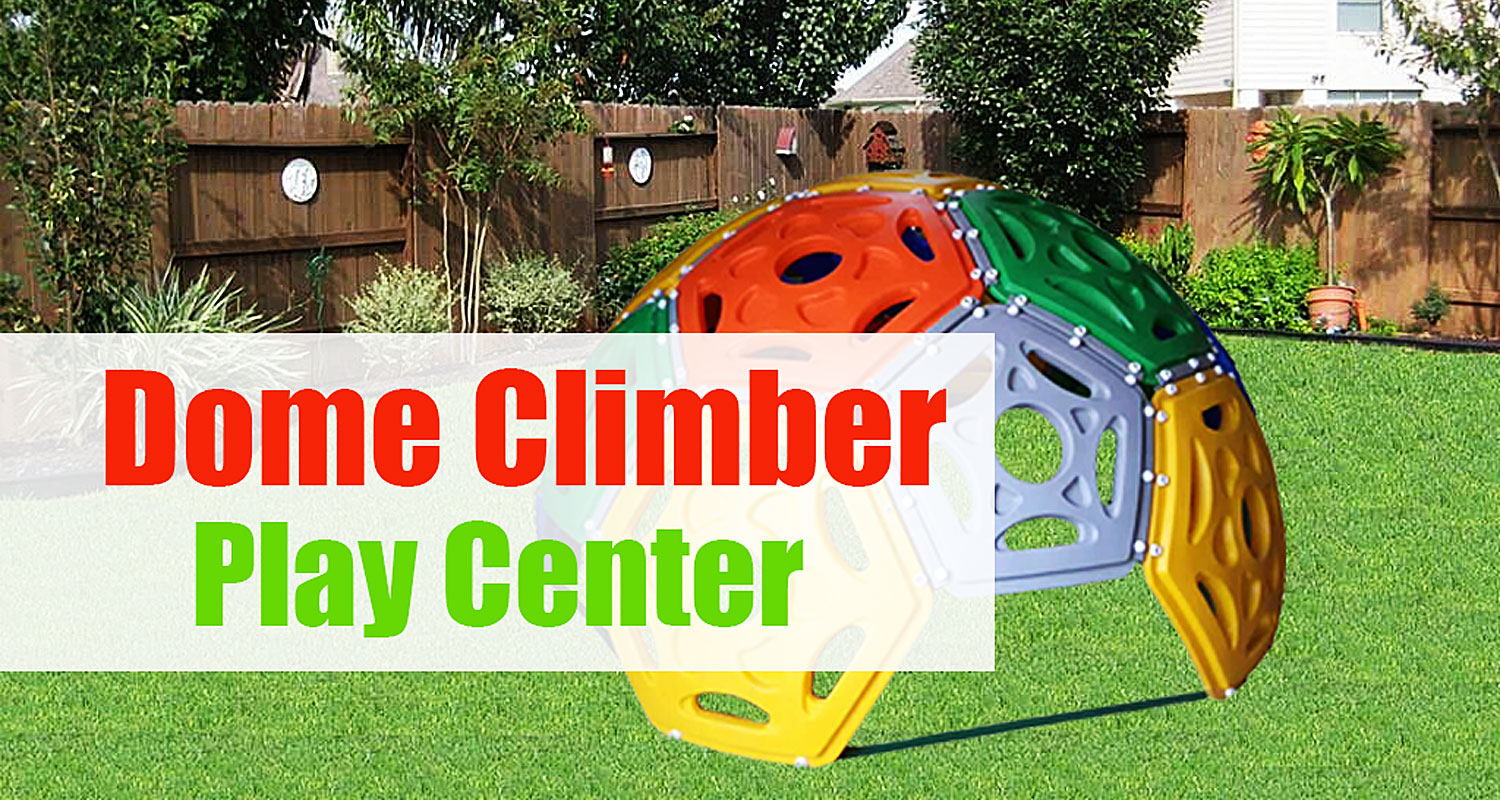 Plastic Backyard Climbing Dome with Slide for Toddlers